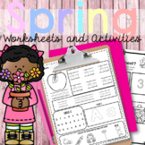 Spring Worksheets and Activities  for ESL K-2| Distance Learning