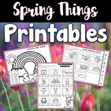 Spring Worksheets and Printables