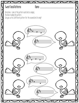 Spring Worksheets for the Music Learning Theory Inspired Classroom