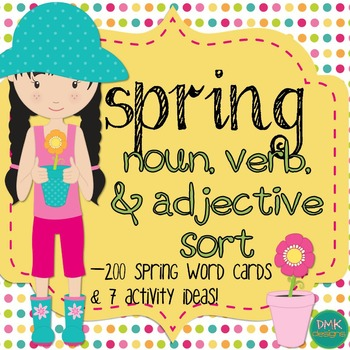 Spring Noun, Verb, and Adjective Sort
