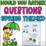 Spring Would You Rather Questions Cards