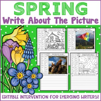 Spring Picture Writing Prompts | Spring Writing Activities