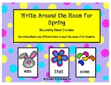 Write Around the Room for Spring