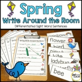 Spring Write Around the Room: Differentiated Sight Word Sentences