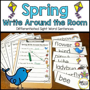 Spring Write Around the Room: Simple Sight Word Sentences