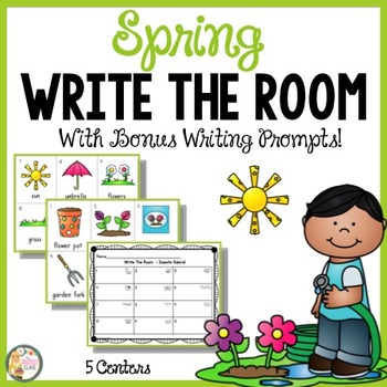 Spring Literacy Centers with Writing Prompts
