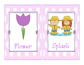 Spring Write The Room- Rhyming Pairs