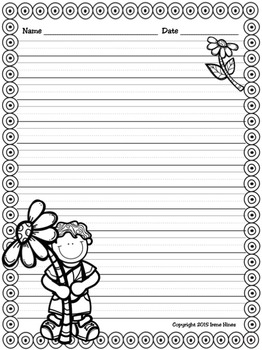 Spring Write This Way ~ Decorative Printable Lined Writing Paper Set