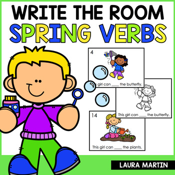 Spring Write the Room - Action Verbs