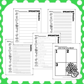 Spring Write the Room Activity