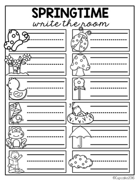 Spring Write the Room (Bonus Pages)