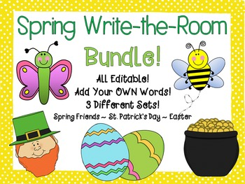 Spring Write-the-Room Bundle {3 Different Editable Sets!}