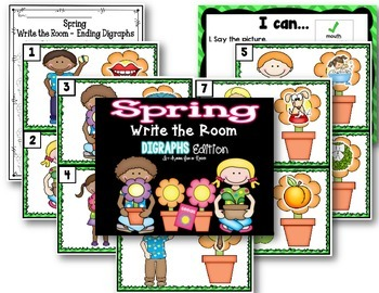 Spring Write the Room - Ending Digraphs Edition