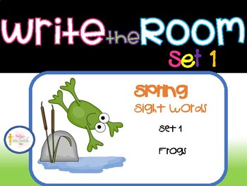 Spring Write the Room Set 1- Frogs