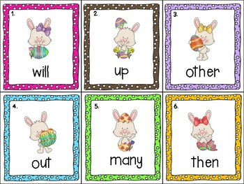Spring Write the Room Set 3- Bunnies