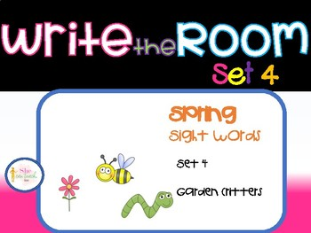 Spring Write the Room Set 4- Garden Critters