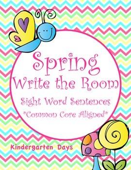 "Spring ""Write the Room"" (Sight Word Sentences)"