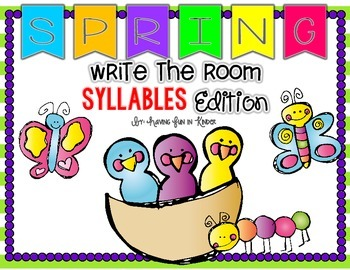 Spring Write the Room - Syllables Edition