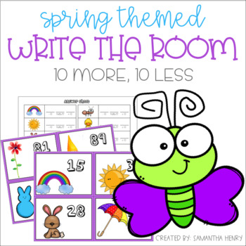 Spring Write the Room - Ten More Ten Less