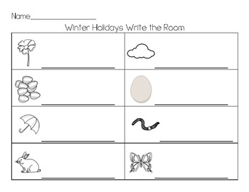 Spring Write the Room beginning sounds