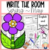 Spring Write the Room in English and Spanish for K-1 {May Edition}