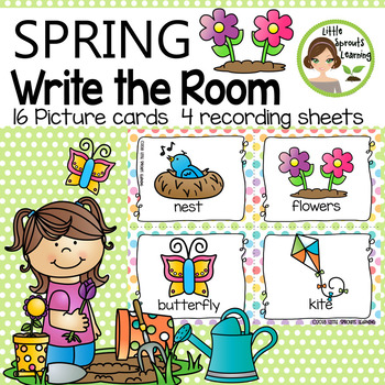 Spring Write the Room (in color and black/white)