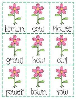 Spring Write the Room: /ou/ & /ow/ Words