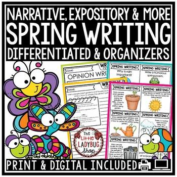 Spring Writing Prompts - 2nd Grade, 3rd Grade & 4th Grade