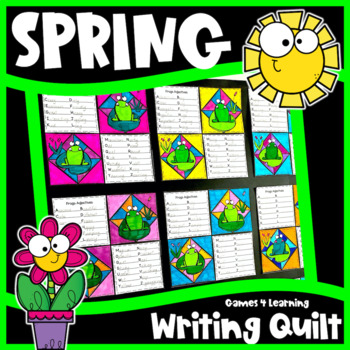 Spring Writing Prompts Quilt: Spring Writing Activity