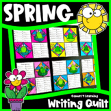 Spring Writing Prompts Quilt: Spring Distance Learning Writing Activity