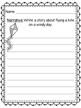 Spring Writing Prompts (Opinion, Description, Narrative, Informative)