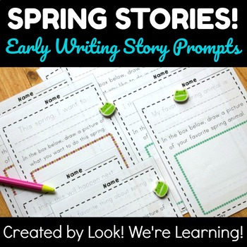 Spring Writing Activities: Early Creative Writing Prompts - Spring Stories!