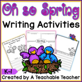 Spring Writing Activities {K-1}