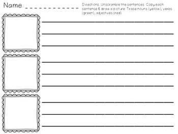 Spring Writing Activities - Sentence Scramble, Spin A Story, Spin A Sentence