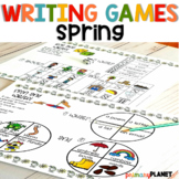 Spring Writing Activities Spin, roll, and write!  Picture writing prompt games!