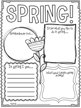 hello spring spring writing activities and craft by lyndsey kuster. Black Bedroom Furniture Sets. Home Design Ideas