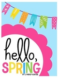 Hello Spring! {Spring Writing Activities and Craft}