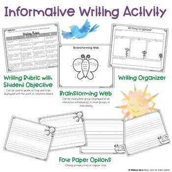 Spring Writing Activities for Informative, Narrative, and Opinion