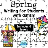 Spring Writing Activities for students with autism