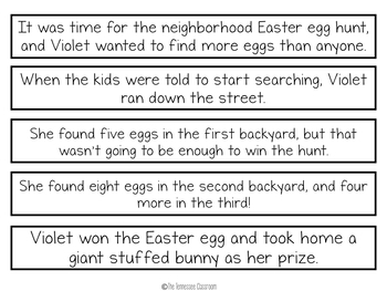 Spring Writing Activity: Paragraph Puzzlers BUNDLE