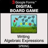 Spring: Writing Algebraic Expressions - Digital Board Game