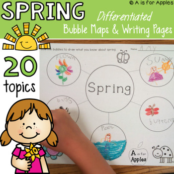 Spring Writing {Bubble Maps & Writing Pages}