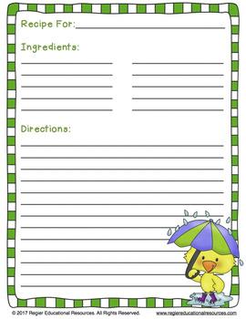 Spring Writing Activities