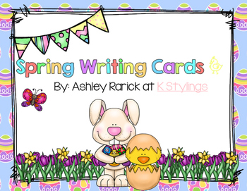 Spring Writing Center Display Cards