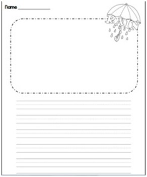 Spring Writing Center Sheets