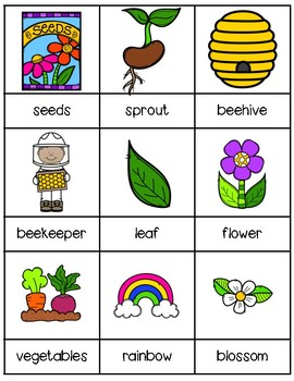 Spring Writing Center | Vocabulary Words | Word Wall