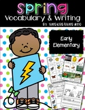 Spring Writing Center   Vocabulary Words   Word Wall