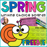 Spring Writing Choice Boards (March, April, and May)