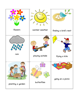 Spring Writing, Cloze, and Concept Sorting - ESL/ELL!