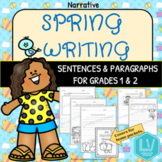Spring Writing Grades 1 and 2 Distance Learning, Independe